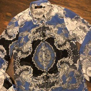 Dex sheer printed blouse